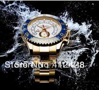 Luxury Big OYSTER PERPETUAL YACHT MASTER II 18K YELLOW GOLD 116688 YACHTMASTER High Quality Japan quartz Men's Watches