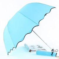 Free Shipping Apollo ruffle water arch umbrella sun protection umbrella anti-uv umbrella folding