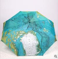 Free Shipping Three fold umbrella personalized folding umbrella sun protection umbrella sunscreen ultraviolet