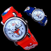 Child girl watches boy primary school students jubilance jelly electronic watch cartoon kt cat waterproof watch
