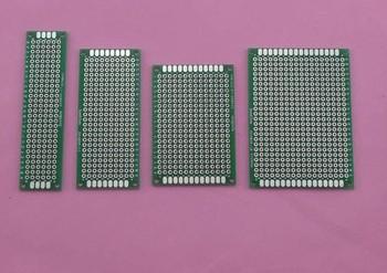 10pcs PROTOTYPE pcb prototype Double-Side PCB 2x8 3x7 4x6 5x7CM, wholesale,vamo protoboard timer circuit board