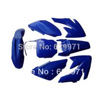 pit bike parts CRF70 7 Pieces  blue Colored Plastic Kit