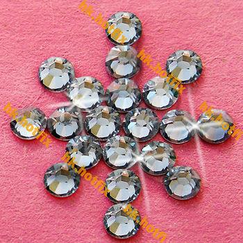GENUINE Swarovski Elements ss16 Moonlight ( MOL ) 720 pcs. Iron on 16ss Hot-fix Flatback Round Glass Crystal Hotfix rhinestones