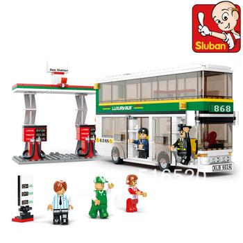 Free Shipping City Bus Building Block Sets 403pcs Legoland Educational DIY Construction Bricks Toys Without Orignial Box