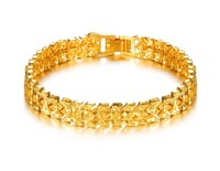 Hot on selling 10mm 18k gold bracelets for women love  wholesale fashion golden bracelets skull bracelet bangle bracelet