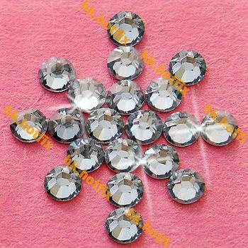 GENUINE Swarovski Elements ss16 Silver Shade ( SSHA ) 720 pcs. Iron on 16ss Hot-fix Flatback Round Crystal Hotfix rhinestones