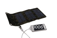solar factory directly sell 5W foldable solar charger bag with inner and external voltage controller optional