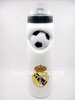 White Real Madrid CF  Cycling Water Bottle Jug 25oz 750ml Bike Bicycle Hiking Camping Outdoor Sports