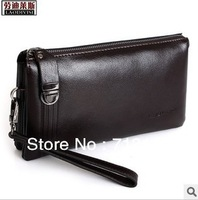 New Arrival, Men bag, Genuine Leather Clutch Bag for Men, 100% Genuine Cowhide Bag, Black, Brown, Blue,  LS1302-2