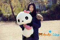 Free Shipping New Cute Stuffed Animal Doll 23'' Plush Love Heart Panda Soft Toy Birthday Christmas Gift For Kids Baby