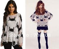 Новая мода осень-зима women3d Роза выдалбливают на плечо пуловер Леди тонкий вязание свитер джемпер трикотаж розничной