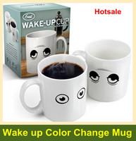 Hot sensor Big Eye Wake Up Mug heat sensitive color changing Coffee Mug Free shipping+Drop shipping