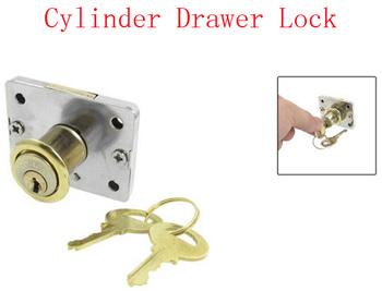 Cupboard Security Cylinder Locker Drawer Lock w 2 Keys 4pcs