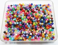 500pcs/lot Mixed Color Cat Eye Beads Glass Round Cat's Eye Beads 6mm Jewelry Finding Assortment