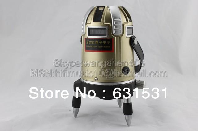 leter Precision 8 lines Cross line laser level 360 degrees laser line(4V4H electronic system) High-rise building level(China (Mainland))