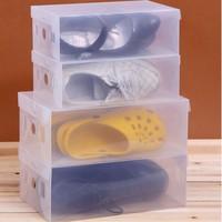 Transparent Child/Lady/Man Stackable Clear Plastic Shoe Storage Boxes Case Organizer,Drawer Storage Shoe Boxes 8 pcs/lot