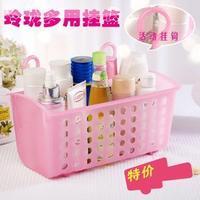 Bathroom basket cosmetic dermoprotector desktop plastic bathroom storage box miscellaneously finishing frame