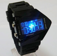 Fashion multifunctional sports led electronic fashion male watch jelly outdoor alarm clock trend