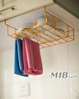 Kitchen cabinet hanging storage shelf rack bowl rack towel miscellaneously single tier rack