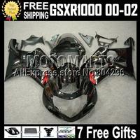 7gifts Q39 For SUZUKI GSX-R1000 blue 00-02 GSXR1000 GSX- GSX R1000 00 01 02 black white 747  K2 2000 2001 2002 Fairing Kit