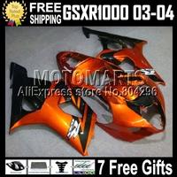Orange black Fairing For SUZUKI GSX-R1000 K3 GSX R1000 03 04 K3 2003 2004 GSXR 1000 40Q 665 Hot GSXR1000 K3 Bodywork+7gifts