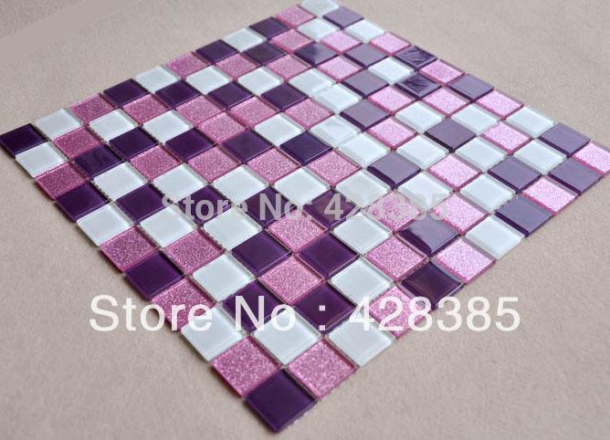Online kopen wholesale paarse keuken backsplash uit china paarse keuken backsplash groothandel - Donker mozaieken badkamer ...