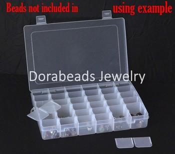! Beads Display Storage Container W/36 Grids 28x19x4.5cm (B11574)