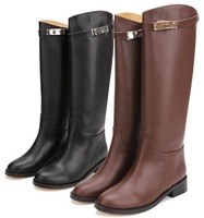 2013 women's winter boots big size women's knee high boots genuine leather women's  shoes women's motorcycle boots SA0204