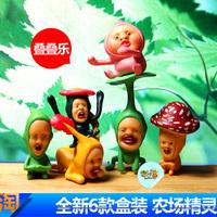 Boxed 6 fairy decoration kobito-dukan peach toy gift