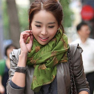 2012 small zebra scarf fluid women's scarf bali yarn long cape
