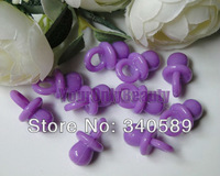Free Shipping--500pcs Mini Acrylic Solid Purple Colors Baby Pacifier Baby Showers Favors~Cute Charms ~cupcake decoration