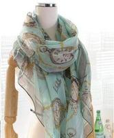 Free shipping 2013 new fashion women's watch logo scarf lady popular scarf