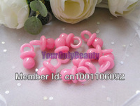 Free Shipping--500pcs Mini Acrylic Solid Pink Colors Baby Pacifier Baby Showers Favors~Cute Charms ~cupcake decoration