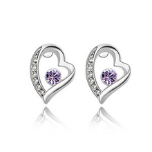 WHOLESALE  !!AWESOME  WEDDING  PRESENT TO HONEY , TRUE  LOVE  JEWELRY  CRYSTAL  EARRINGS   ,RHINESTONE   PLATED    ,HOT!!!  -A56