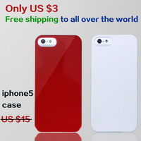 New Hot sale plastic case  for apple 5 Mobile phone shell mobile phone bags cases bake lacquer
