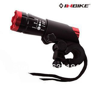 Free shipping INBIKE Headlights light focusable flashlight bicycle lights MTB file zoom