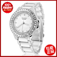 Ladies watch fashion watch full rhinestone watch ceramic watchband