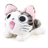 Free shipping + Lovely, sweet, private cat cheese of small plush toy doll lie pillow doll, girlfriend gift