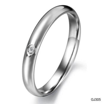 Accessories fashion jewelry ingenues women's titanium crystal ring gj305