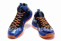 Free shipping Lebron 10 X Elite Superhero Men basketball shoes,size41-46