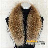 2013 Fashion  real raccoon fur collar scarf high quality 110cm length