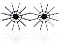 Free shipping 5 pcs/lot 70 mm DIY Boat propeller, model propeller blades
