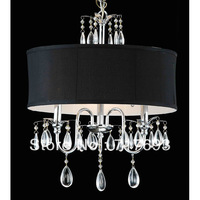 New Specials Chrome 3-light Black Shade Crystal Chandelier