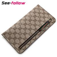 Wallets Fashion fashion 2013 PU zipper long design women's men's coin purse wallet ultra-thin