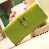 Wallets Solid color candy color women's long design wallet mobile phone bag Women wallet card holder