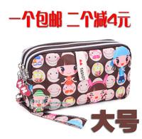 Wallets Harajuku doll small zipper bag mobile phone bag coin purse fashion key wallet purse
