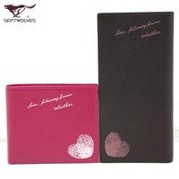 Wallets Gift SEPTWOLVES lovers wallet 2013 genuine leather short design cowhide wallet purse