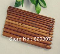 "12pcs Carbonized Crochet Hooks Bamboo Knitting Needles 6"" (~15 cm) 3-10mm"