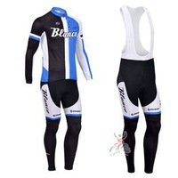 Free shipping 2013 new BLANCO giant team Winter Thermal Fleece Long Sleeved Cycling Jersey /Cycling wear + Bib pants