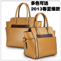 Free shipping 2013 New Fashion genuiine leather Bags Messenger Bag Cross body Shoulder Bags designers brand Women Handbag Totes